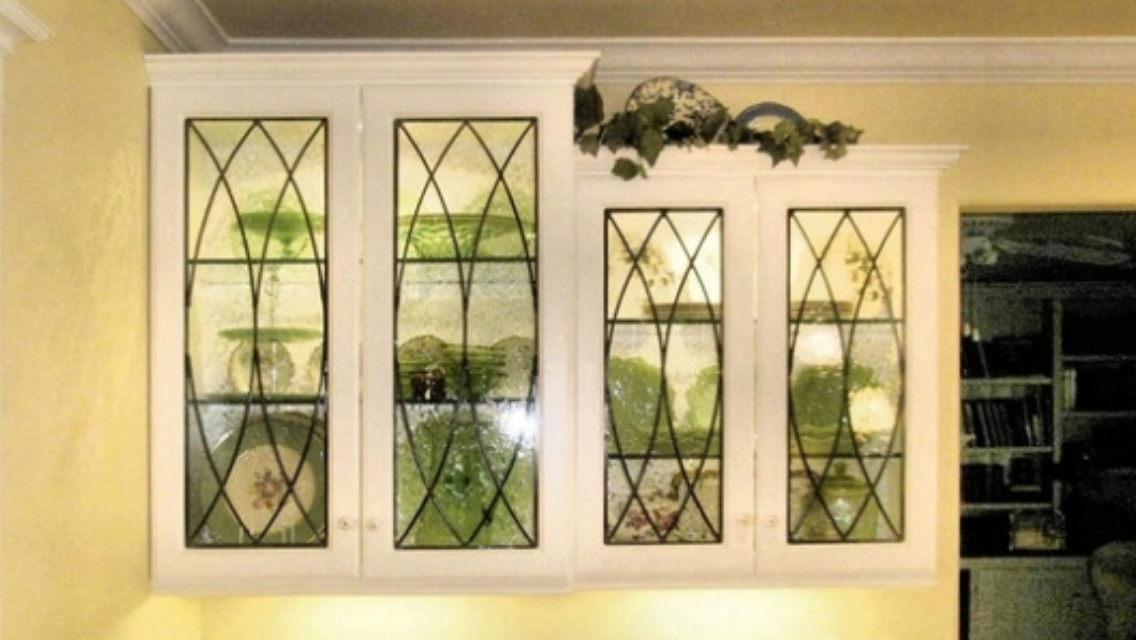 Faux Leaded Glass Glass Kitchen Cabinets Leaded Glass Cabinets Leaded Glass Cabinet Doors