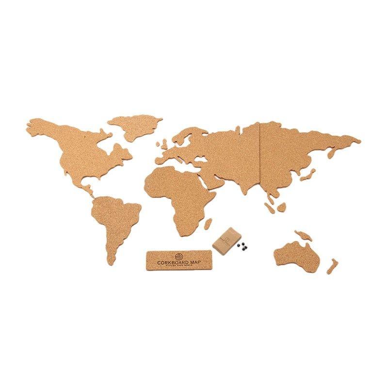 Carte Du Monde En Liege Corkboard Map Carte Du Monde Cadeau