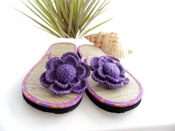 e55fbafc9a08 Sandal Clips - Crochet Flower Clips - Flip Flop Clips - Any color ...