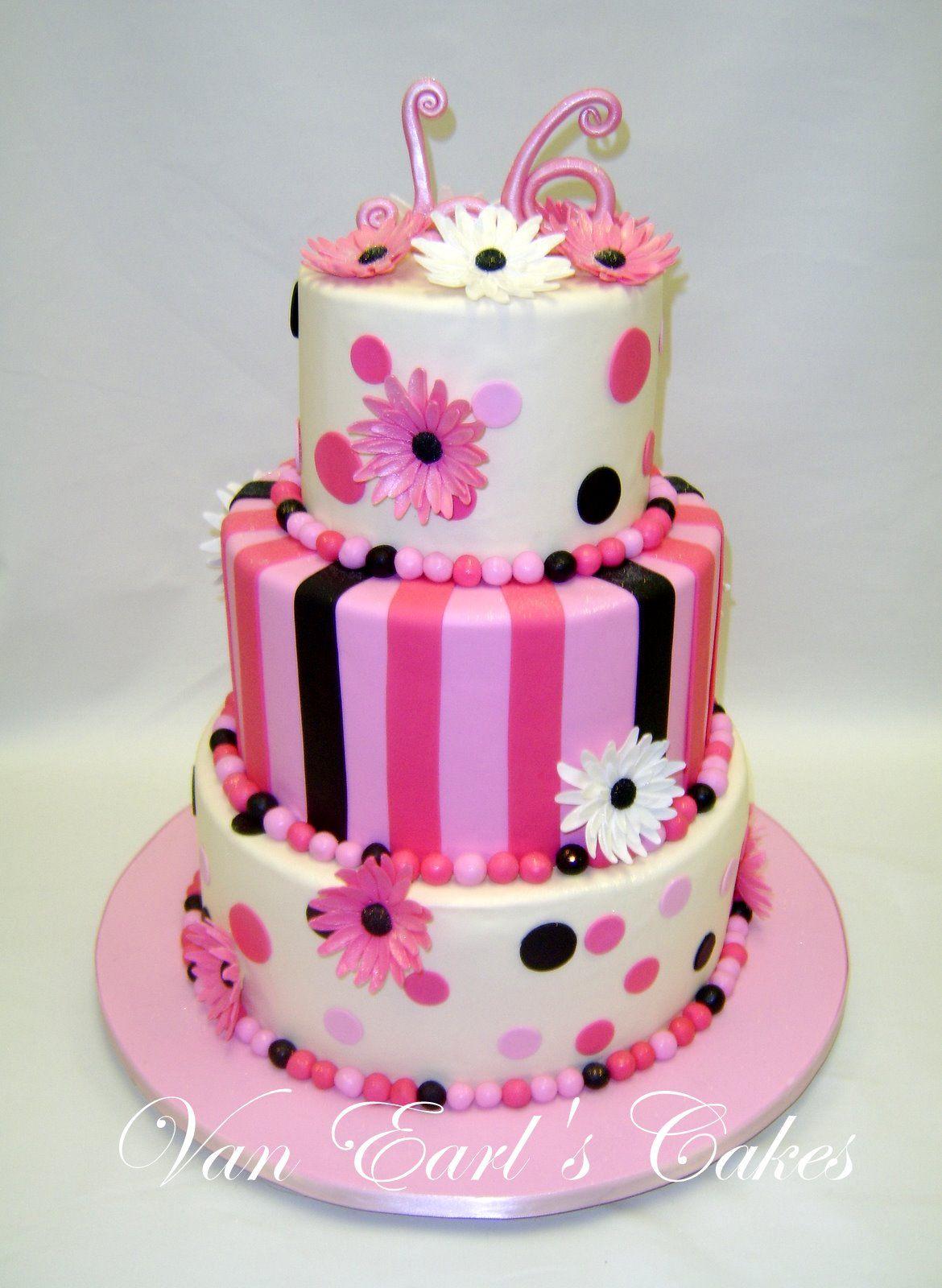 Sweet Sixteen Birthday Cakes Van Earls Cakes Sweet 16 Birthday