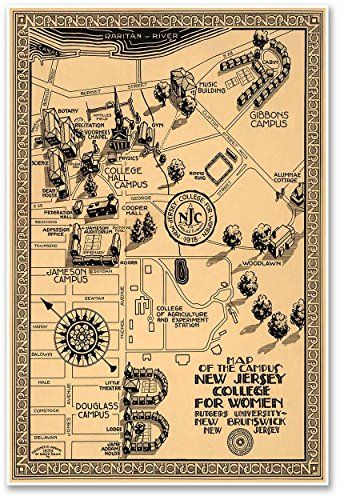 College Of New Jersey Campus Map.Pin By Havana Mike On Vintage Campus Maps Pinterest College