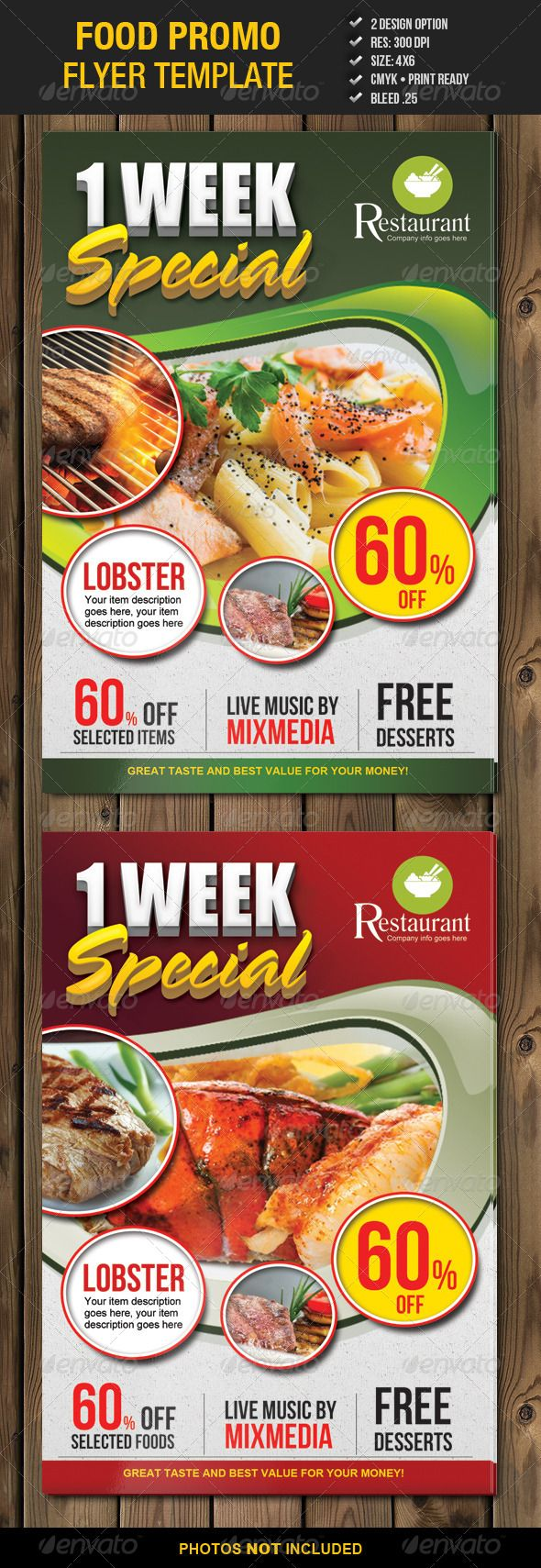 Food Promo Flyer Template 2 – Food Flyer Template