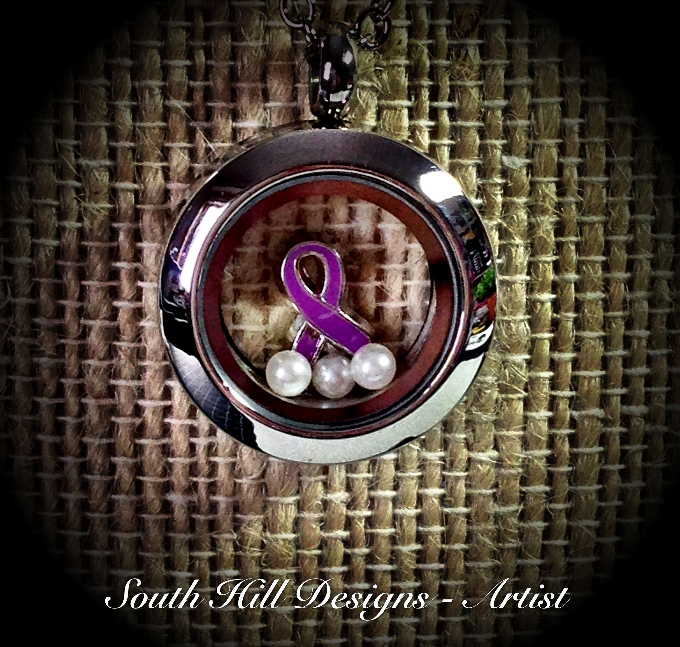 magnetic ribbon my pin for inch insert bracelet necklace changeable button jewelry purple on awareness pic grandma pendant alzheimer etsy