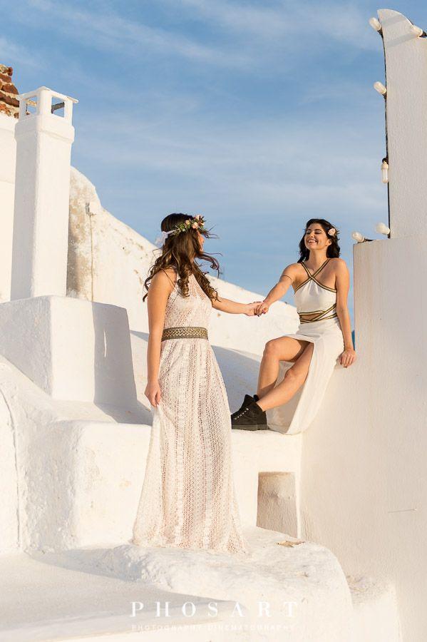 Pin On Lesbian Wedding Santorini Greece