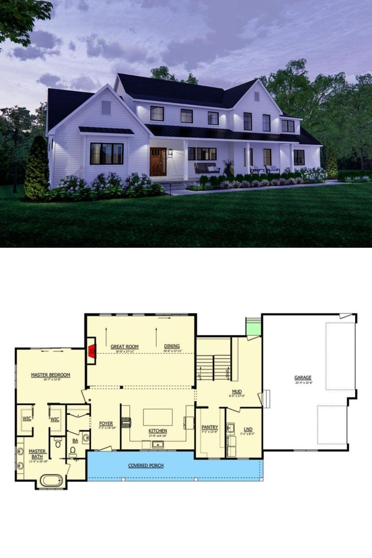 3 Bedroom 2 Story Modern Farmhouse with a Loft Floor Plan