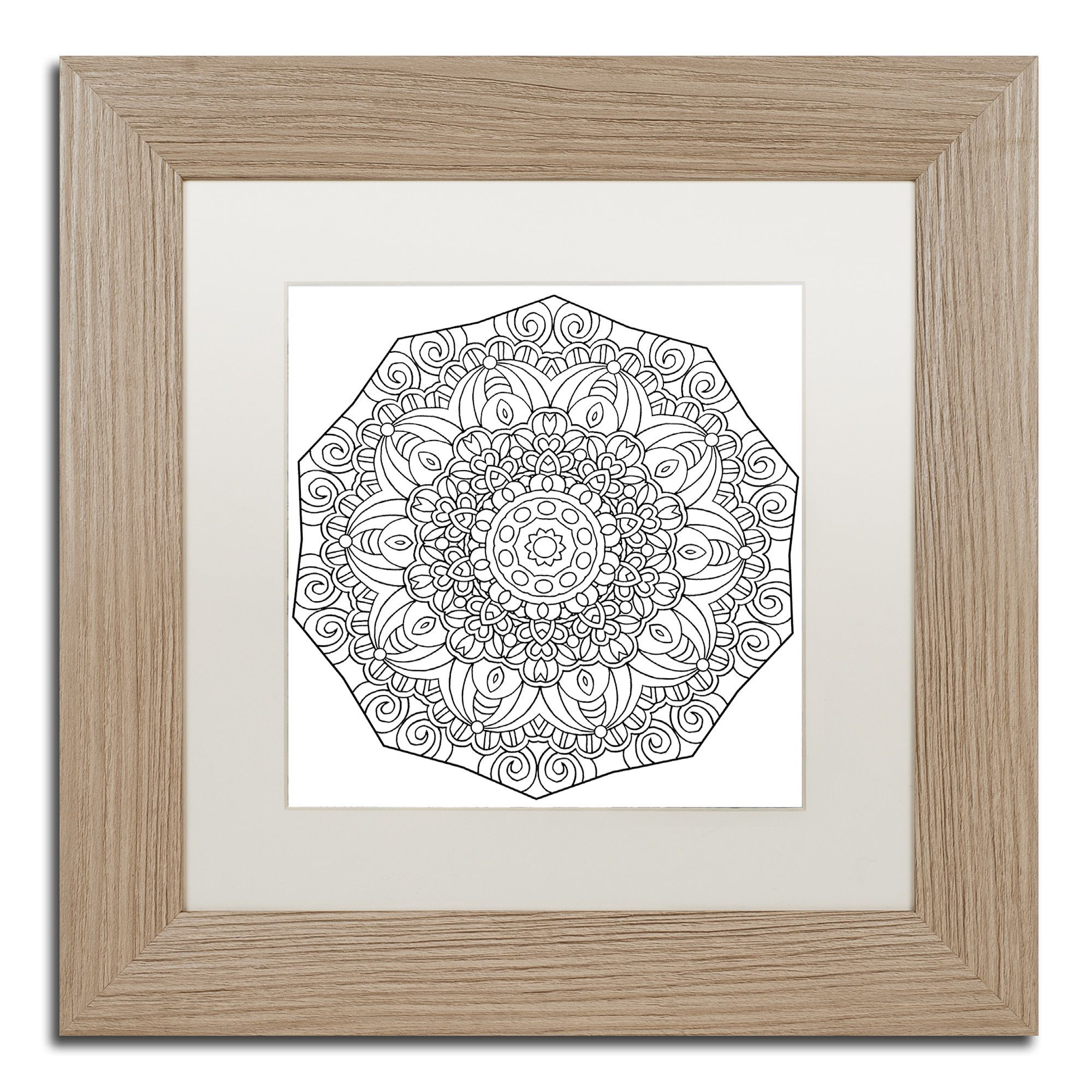Kathy G. Ahrens 'Mixed Coloring Book 11' Matted Framed Art