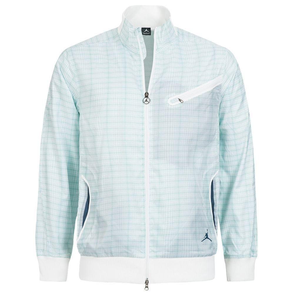 best service e5f61 5f66e Nike Air Jordan Herren Jacket Woven Plaid Jacket Freizeit Jacke 383863-100  neu