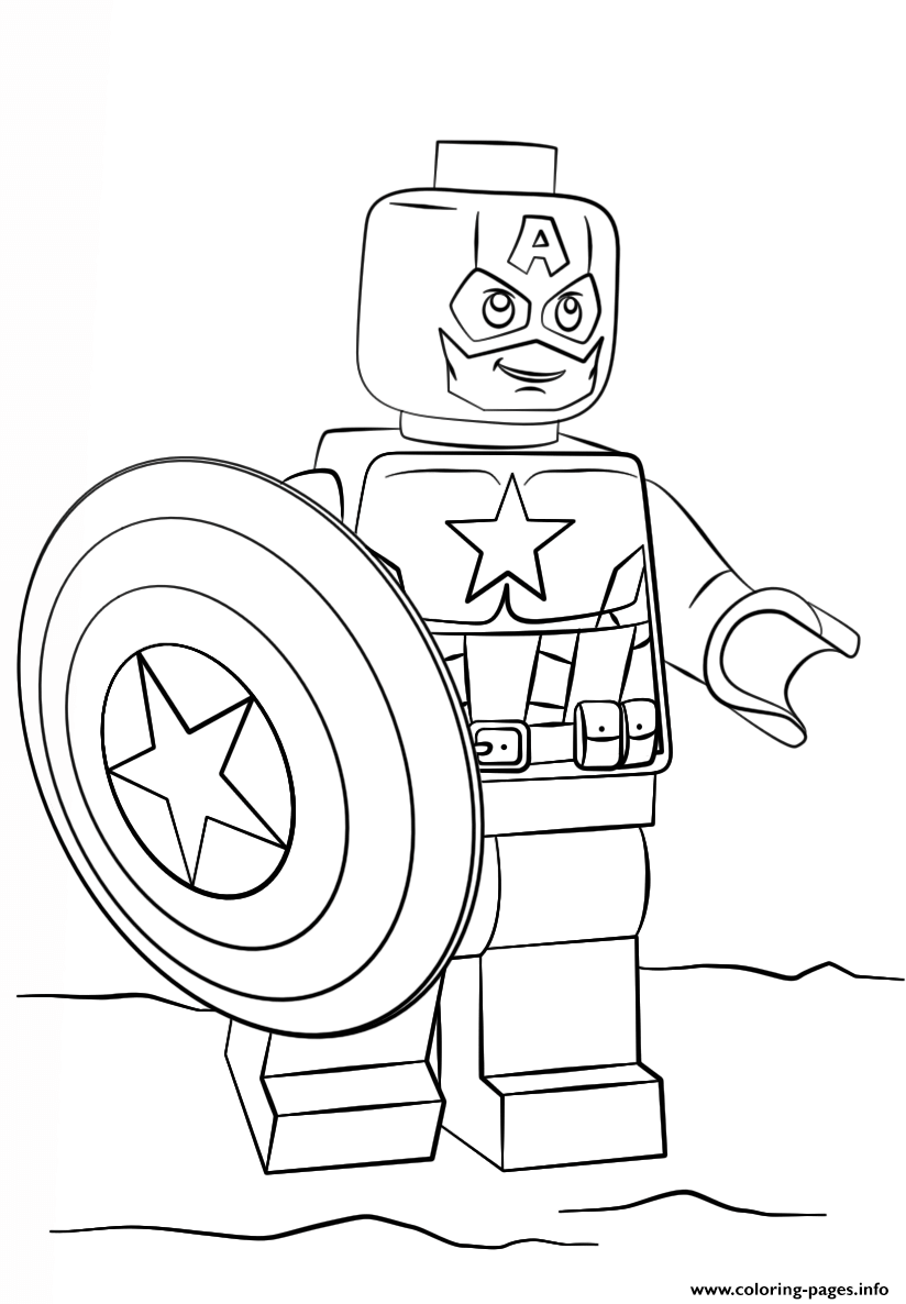 Print lego captain america coloring pages | For the boys | Pinterest ...