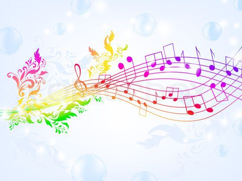 Rainbow music notes backgrounds the art mad wallpapers musical rainbow music notes backgrounds the art mad wallpapers voltagebd Image collections