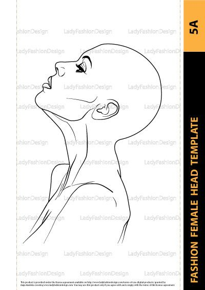 Jewelry Drawing Fashion Female Head Template 5a Lady Fashion Design Jewelry Drawing Fashion Figure Templates Fashion Drawing