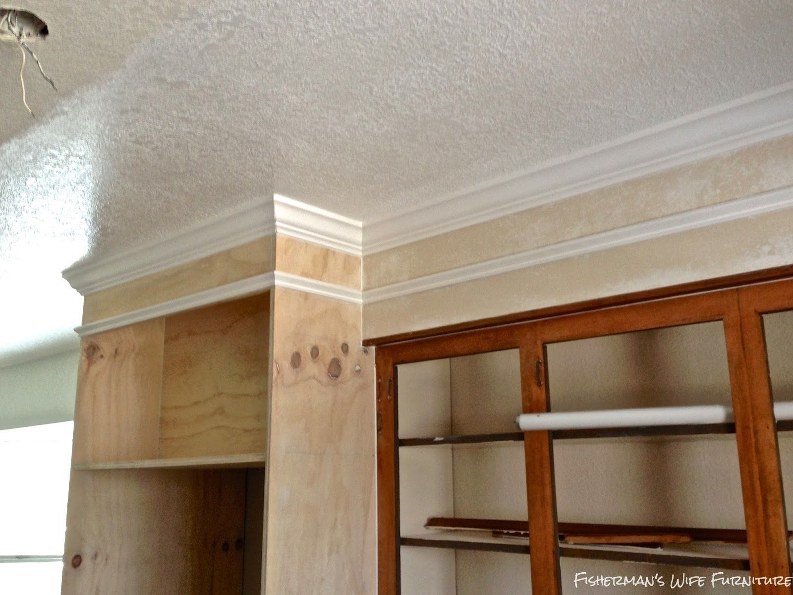 Covering Fur Down The Space Above The Cabinets Kitchen Soffit White Kitchen Makeover Above Kitchen Cabinets