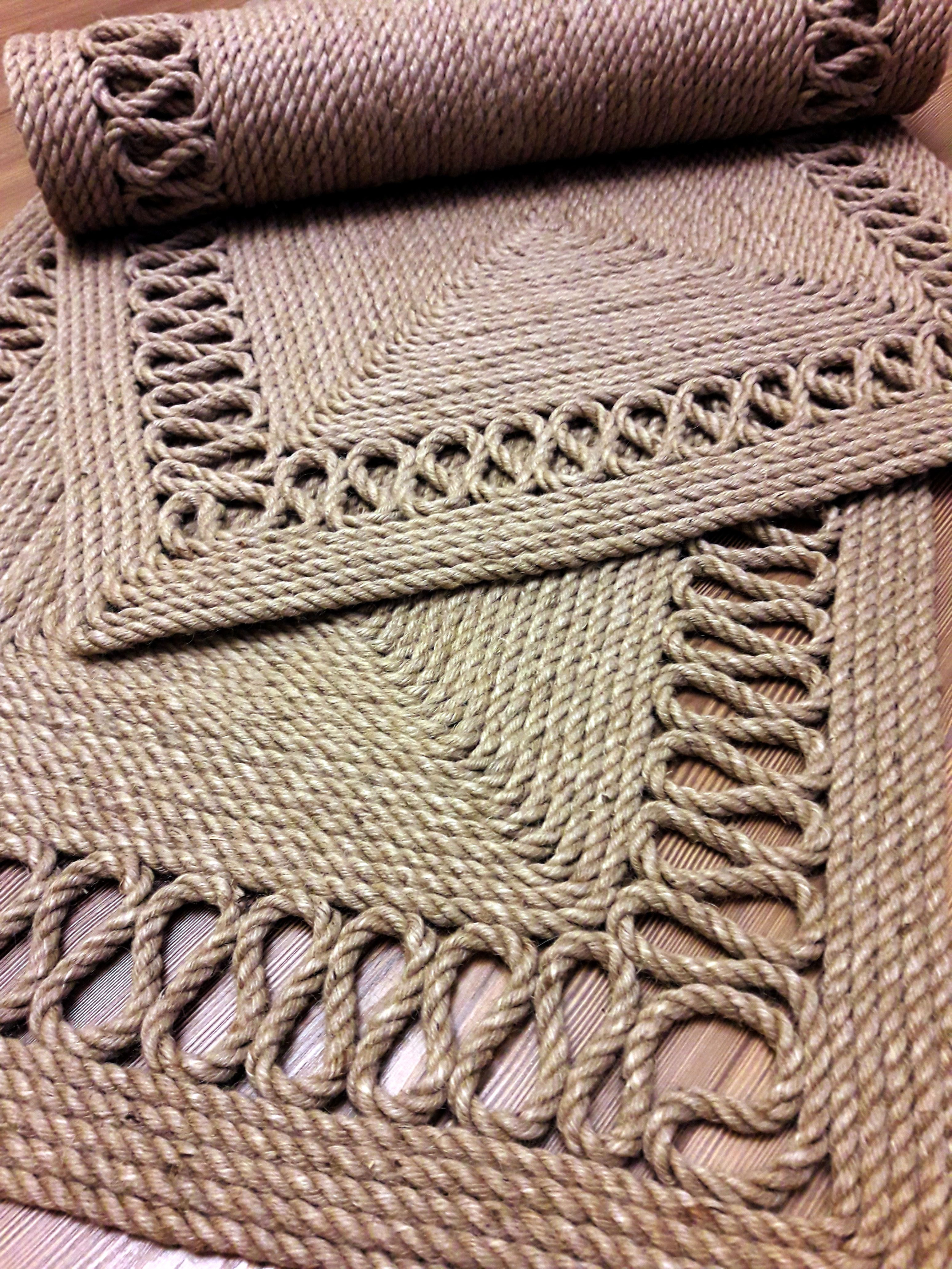 jute rope handmade pinterest macram tapis et ficelle. Black Bedroom Furniture Sets. Home Design Ideas