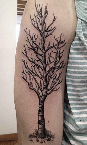 Quaking Aspen Tree Tattoo