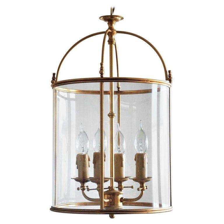 1stdibs Lantern Style 24 Karat Gilded Four Light Italian