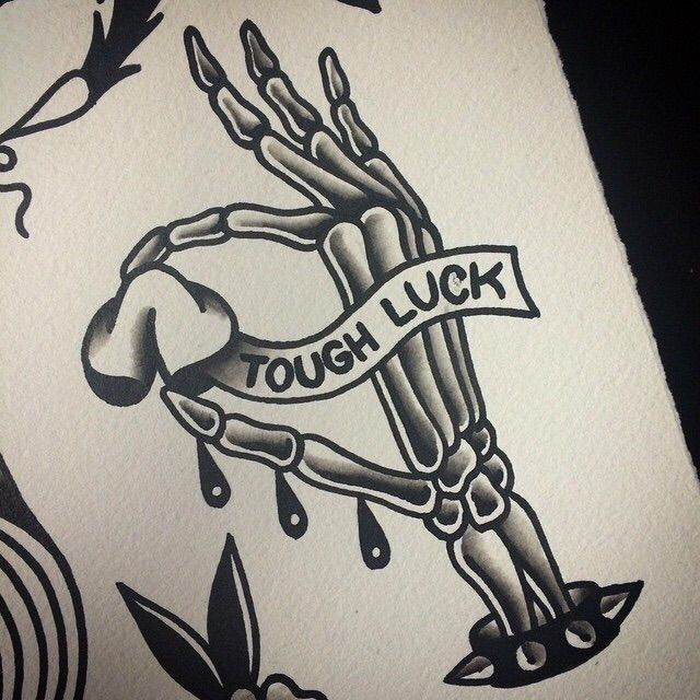 Tough Luck Tattooos Pinterest Tattoos Traditional Tattoo And