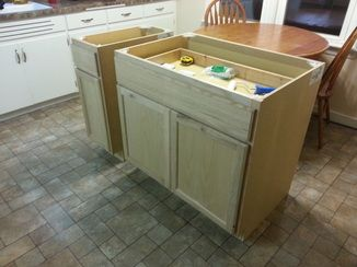 how to make a kitchen island out of a table diy kitchen island from stock cabinets home ideas 9966