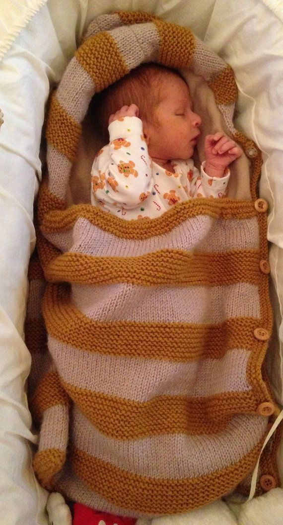 Baby Knit Blanket, Newborn Wrap, Baby Bunting, Snuggle Bag, Blanket ...