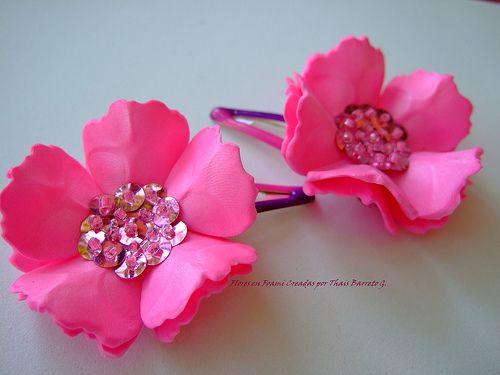 Flores goma eva buscar con google diademas pinterest - Flores con goma eva ...