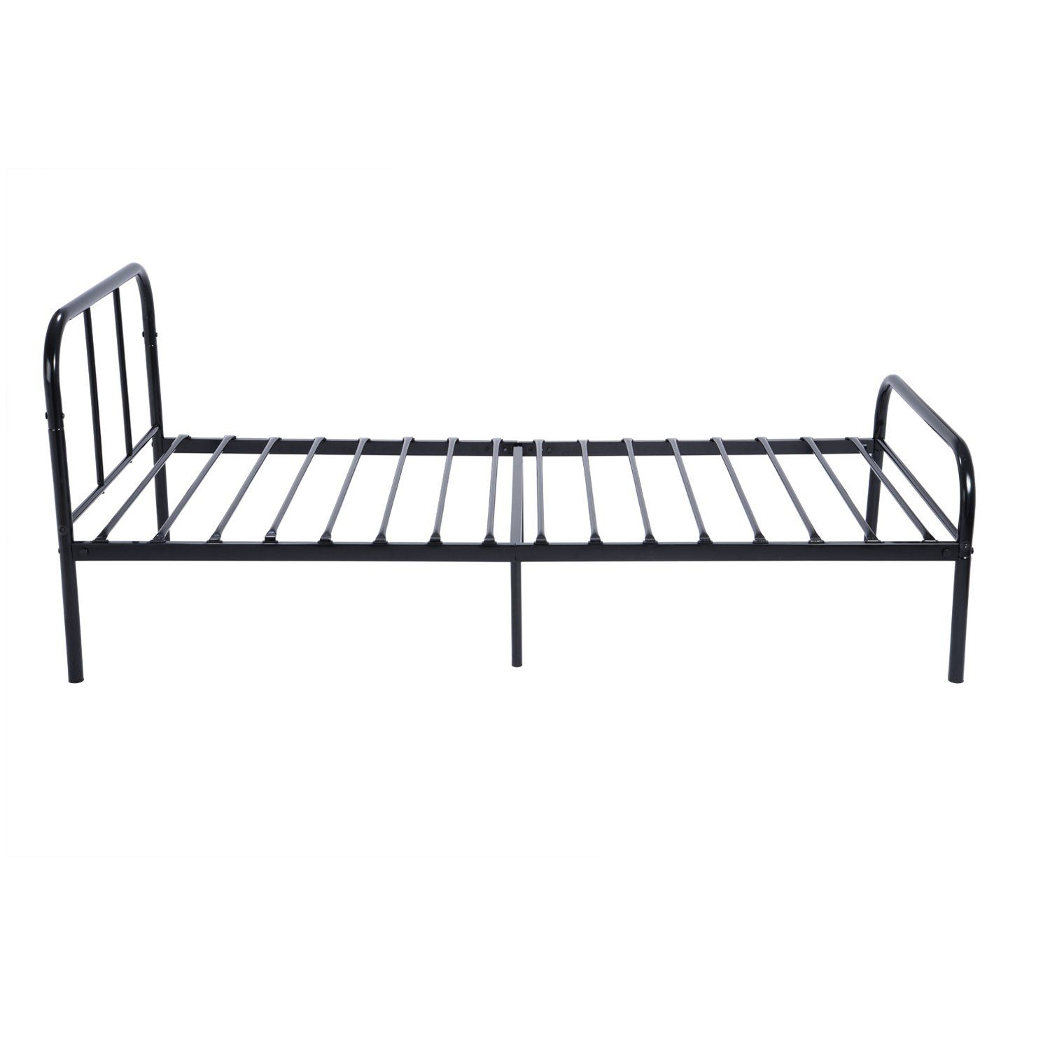 Green Forest Twin Size Bed Frame With Headboard And Stable Metal Slats Boxspring Replacement Sing Bed Frame And