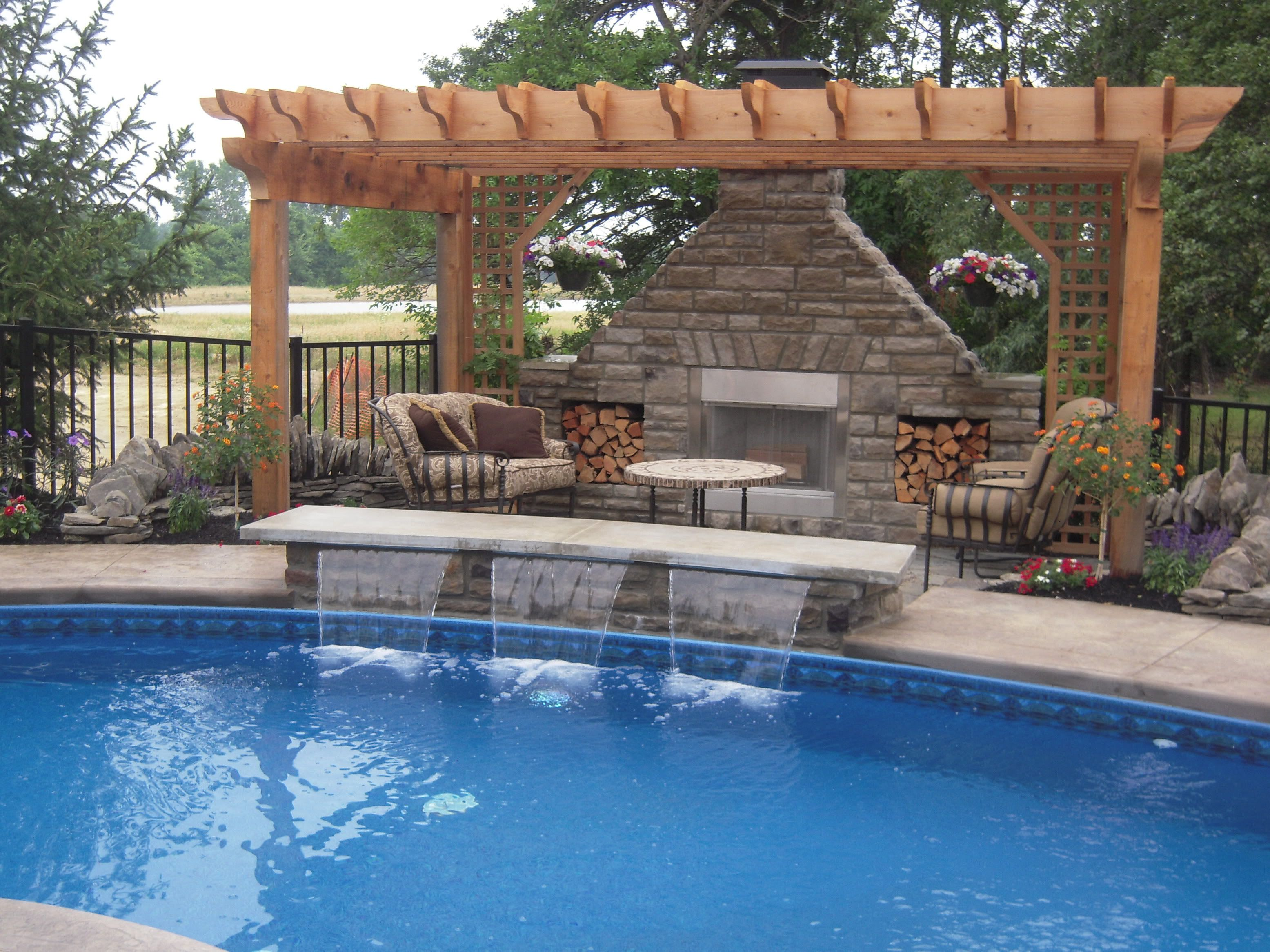 Swimming Pool With Waterfall For My Next Home Pinterest Swimming Pools Yards And Backyard