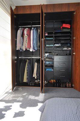 Black internals luxury wardrobe modern built in design walk also spaceworks on pinterest rh