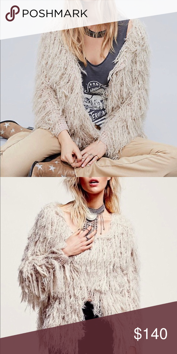 43ff267cbd2dad Free people faithful shaggy cardigan Super cute, bohemian shag cardigan  from Free People. In excellent condition, worn once. Size small NO TRADES  Free ...