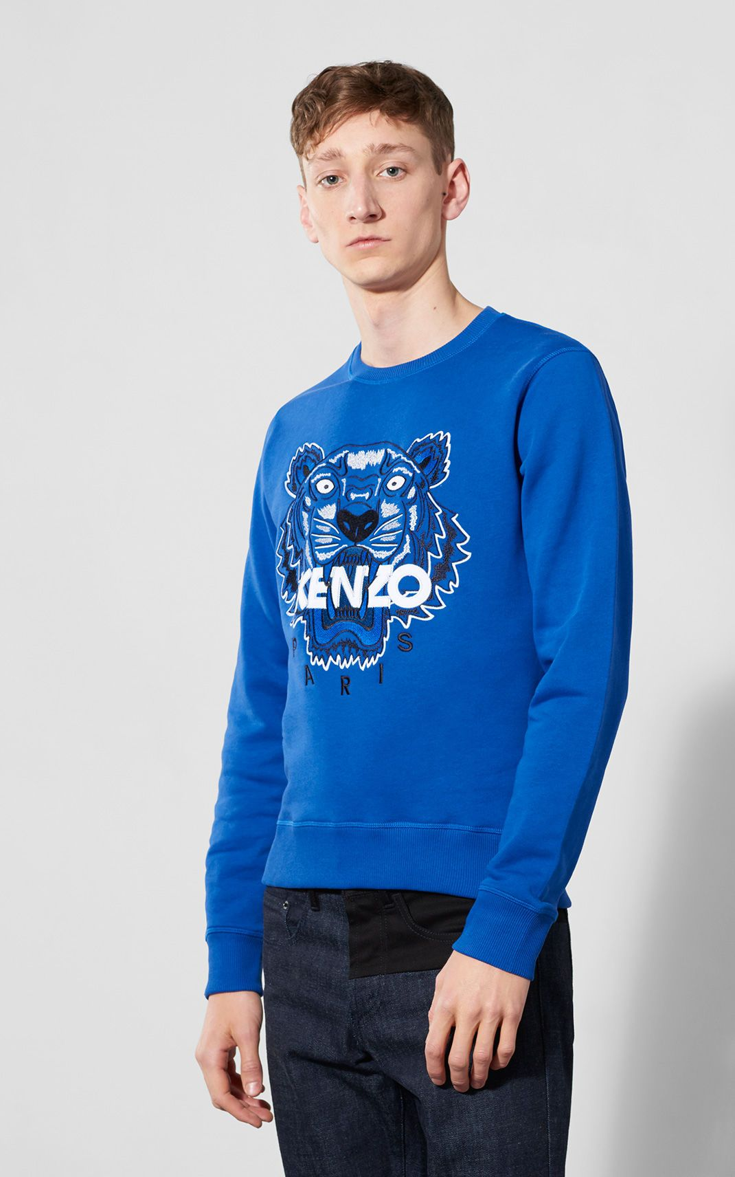 blue kenzo tiger sweater