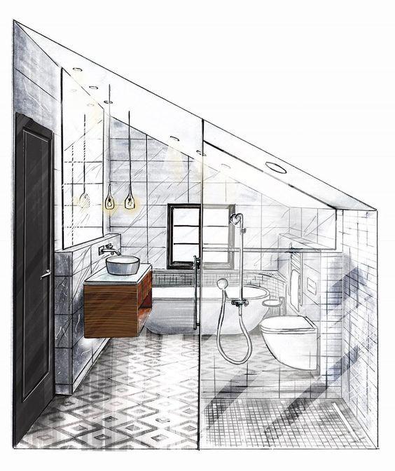 Pin von alia auf pinterest innenarchitektur for Innenarchitektur zeichnen