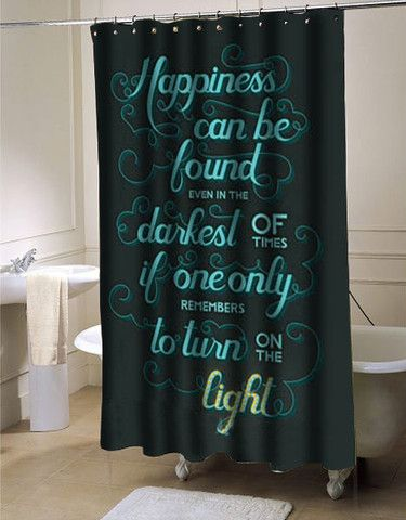 Harry Potter Quote Shower Curtain Harry Potter Shower Curtain