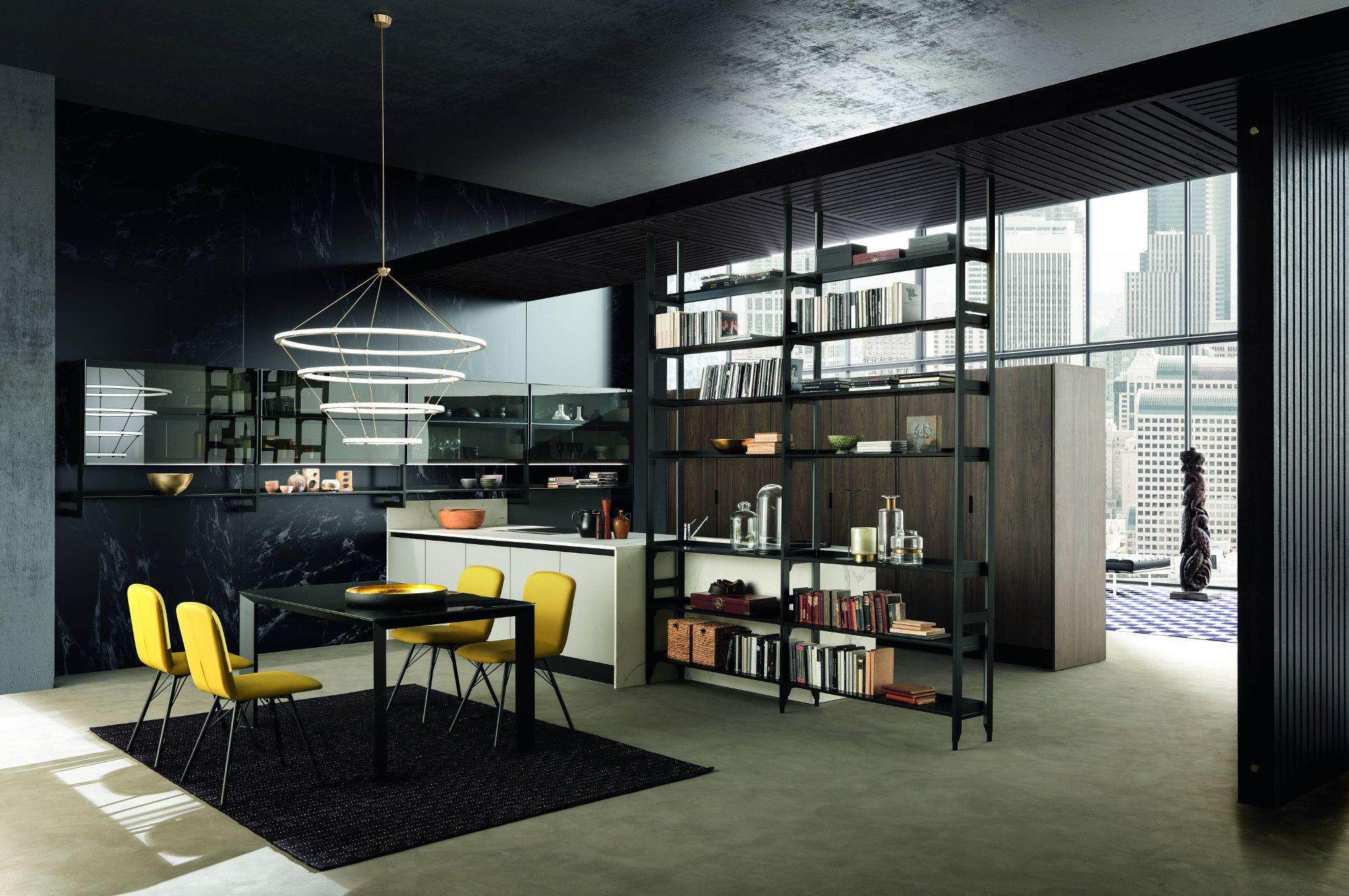 Kaleidos ginocchi arredamenti arredo interni cucina for Cucine moderne scure