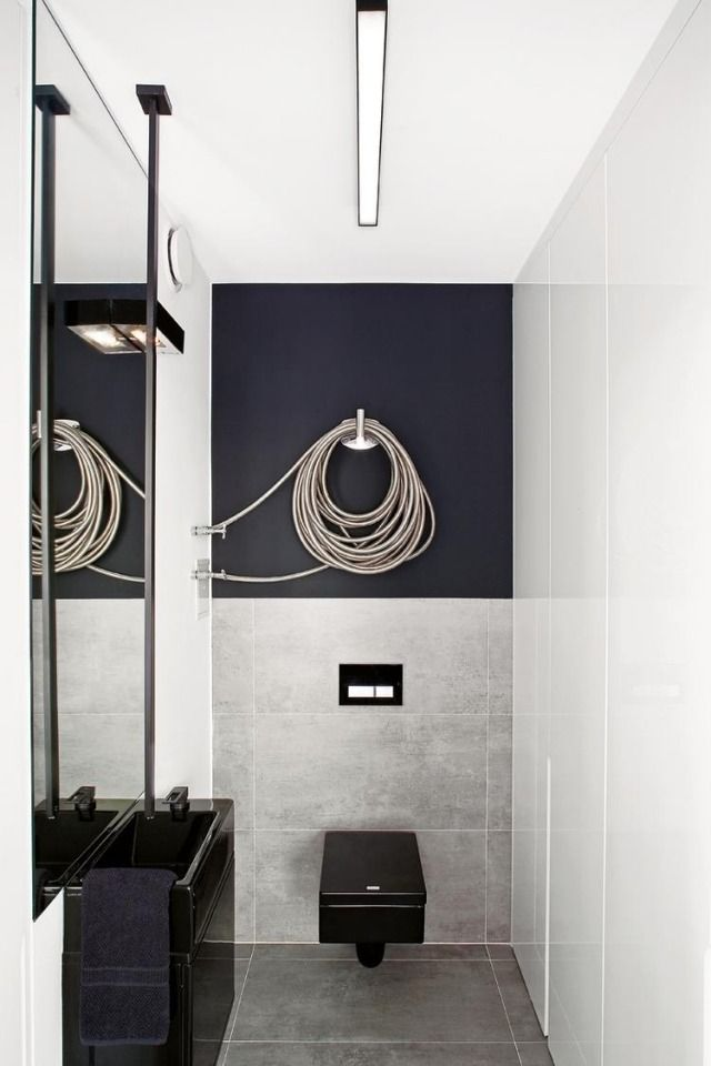 Salle de bain contemporaine id es tendances et photos toilette suspendu - Toilette noir suspendu ...