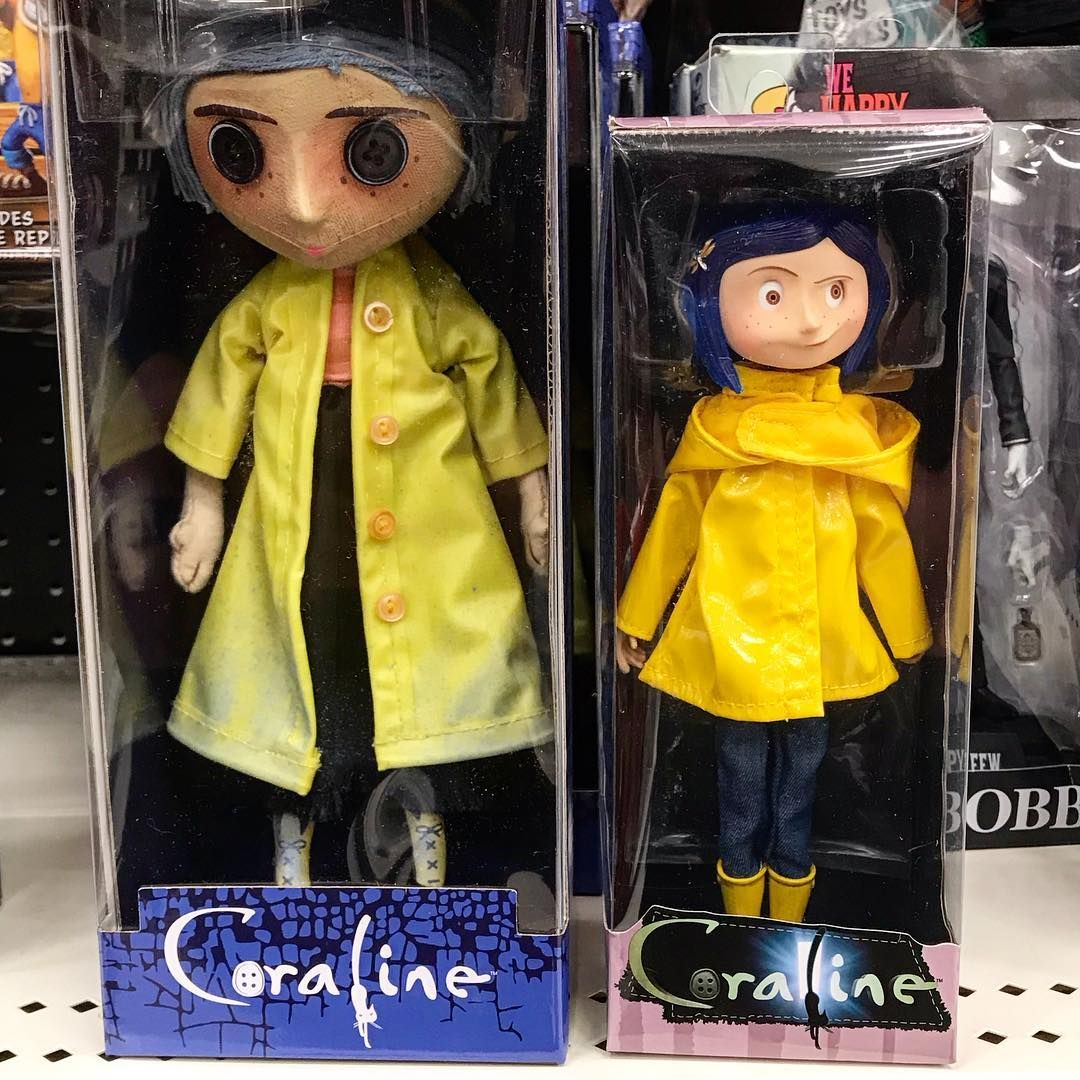 Found These Coraline Collectibles At Target The One In The Left Is A Replica Of The Other Mother S Spy Doll While The O Coraline Doll Coraline Coraline Jones