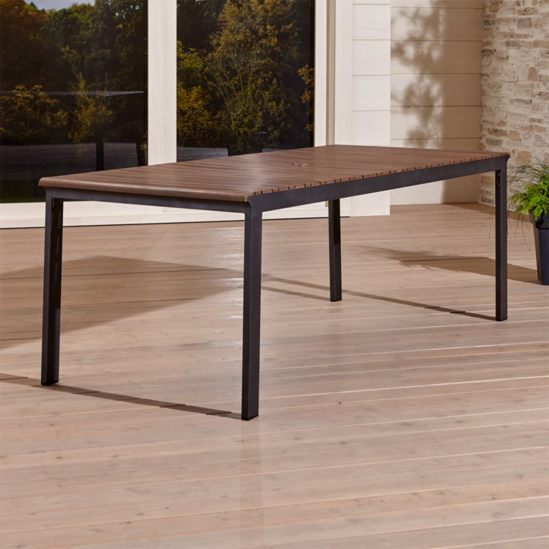 Sale Ends Soon Shop Rocha Ii Rectangular Dining Table Eight Seat Table Aligns Alternat Rectangular Dining Table Outdoor Dining Table Outdoor Dining Furniture