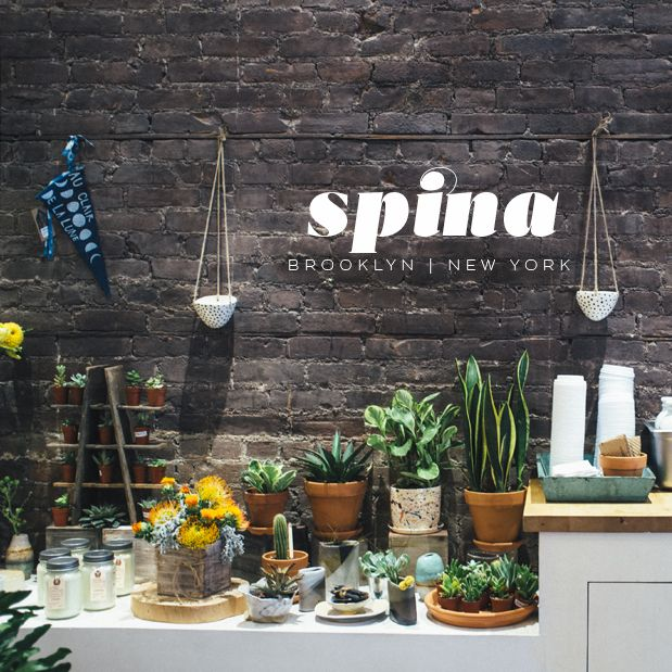 Visit Spina, A Coffee Shop + Florist In Brooklyn. Full Of