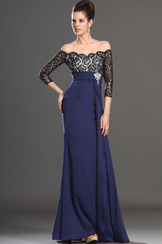 Imagenes de vestidos de noche en color azul