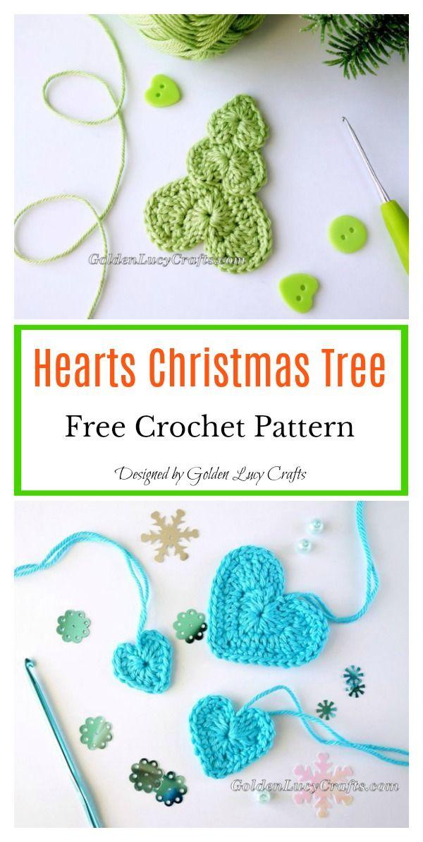Christmas Tree Motif Free Crochet Pattern | navidad | Pinterest ...