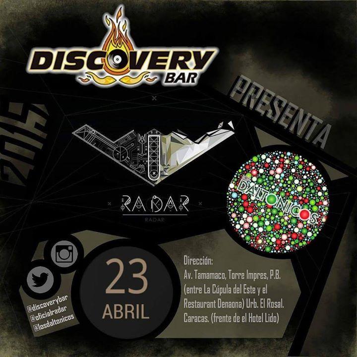 """Cresta Metálica Producciones » Discovery Bar presenta a: """"Radar y Los Daltonicos"""" (Caracas) // 23 Abril 2015"""