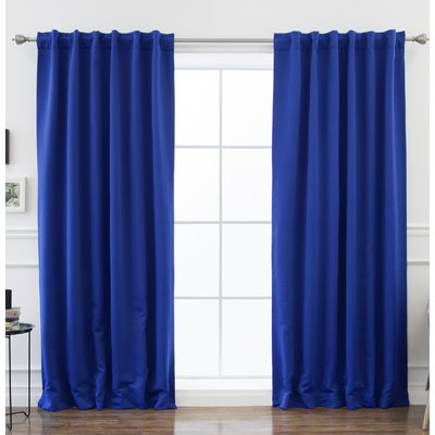 Beachcrest Home Sweetwater Blackout Solid Thermal Curtain Panels