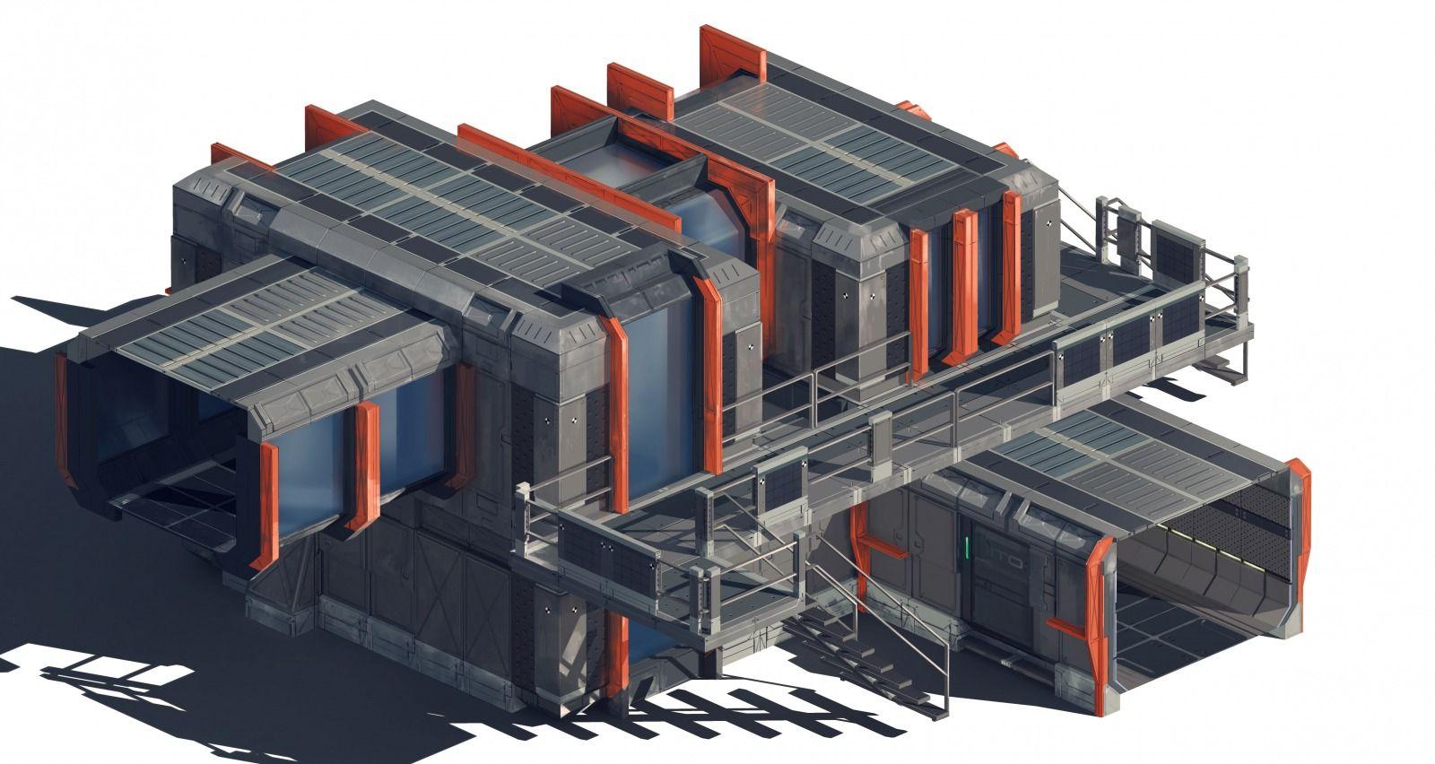Building Sci fi Building