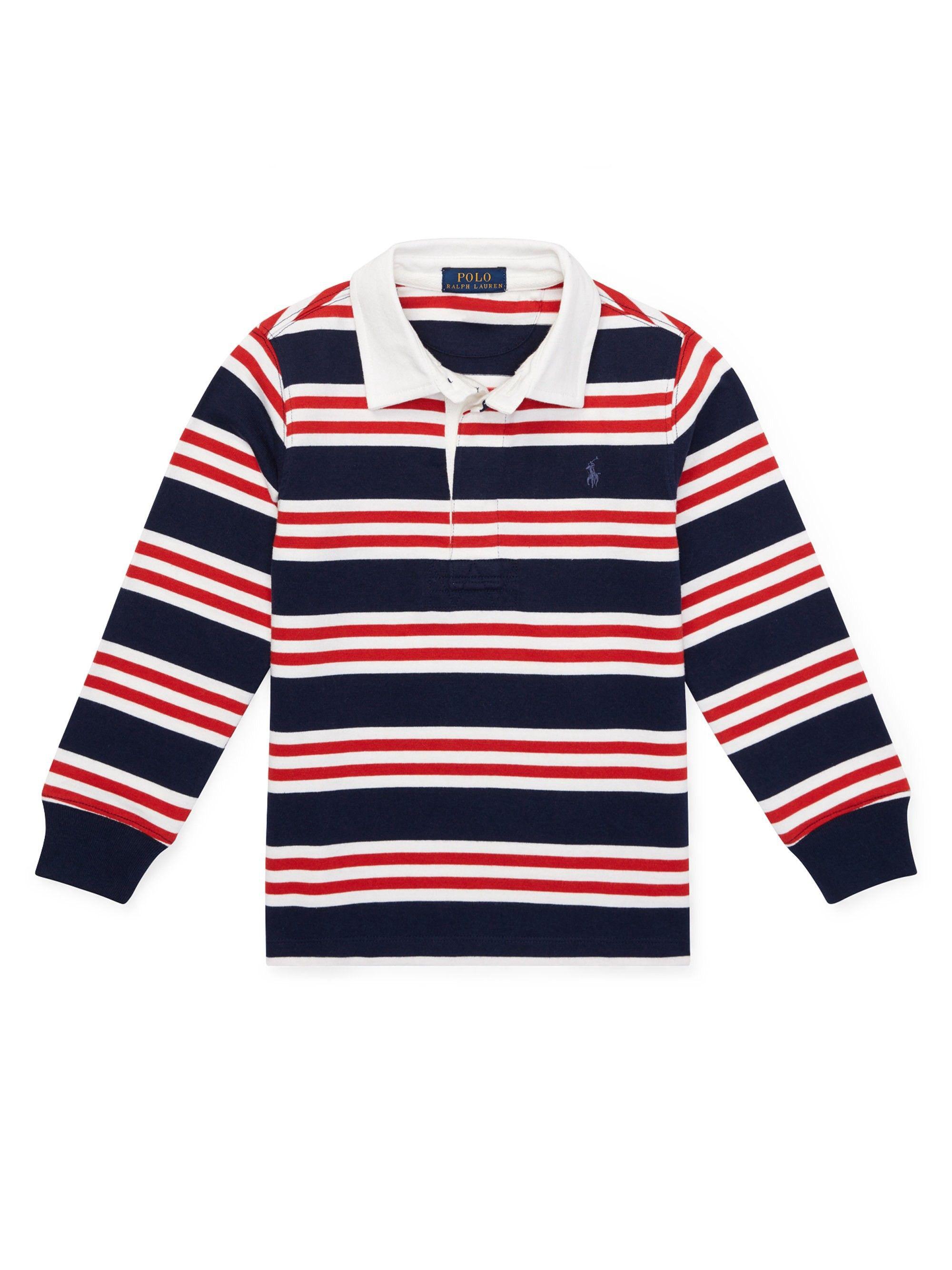 80c07c6a6f0 Ralph Lauren Little Boy's Striped Cotton Jersey Rugby Shirt - French Navy 4T