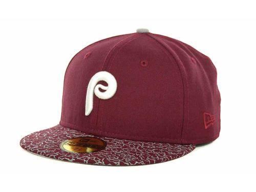 buy popular faa4a 6431a Philadelphia Phillies New Era MLB TMC Print 59FIFTY Cap Hats