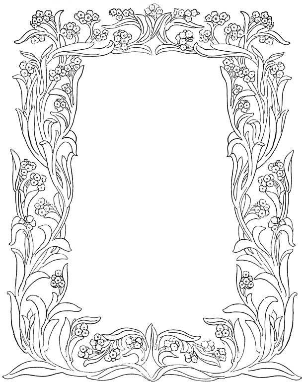 Flower Borders | Art, Art images, Clip art