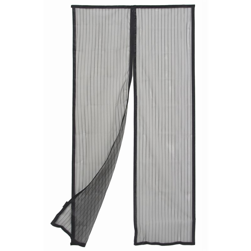 Pillar Products 160 X 200cm Black Magnetic Flyscreen Door Curtain