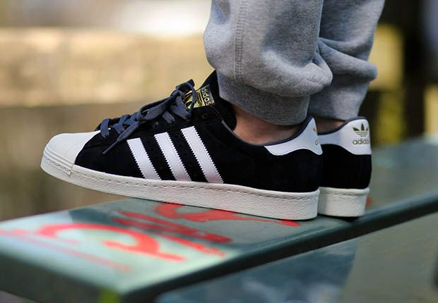850bfbe14445f1 ADIDAS SUPERSTAR 80S DELUXE SUEDE BLACK WHITE
