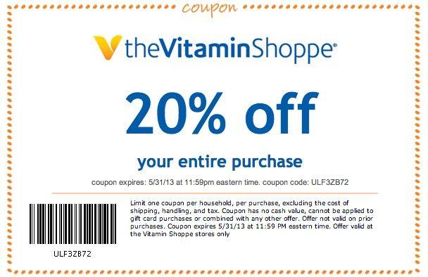 Vitamin Shoppe Coupons Vitamin Shoppe 20 Off Printable Coupon Vitamin Shoppe Printable Coupons Coupons