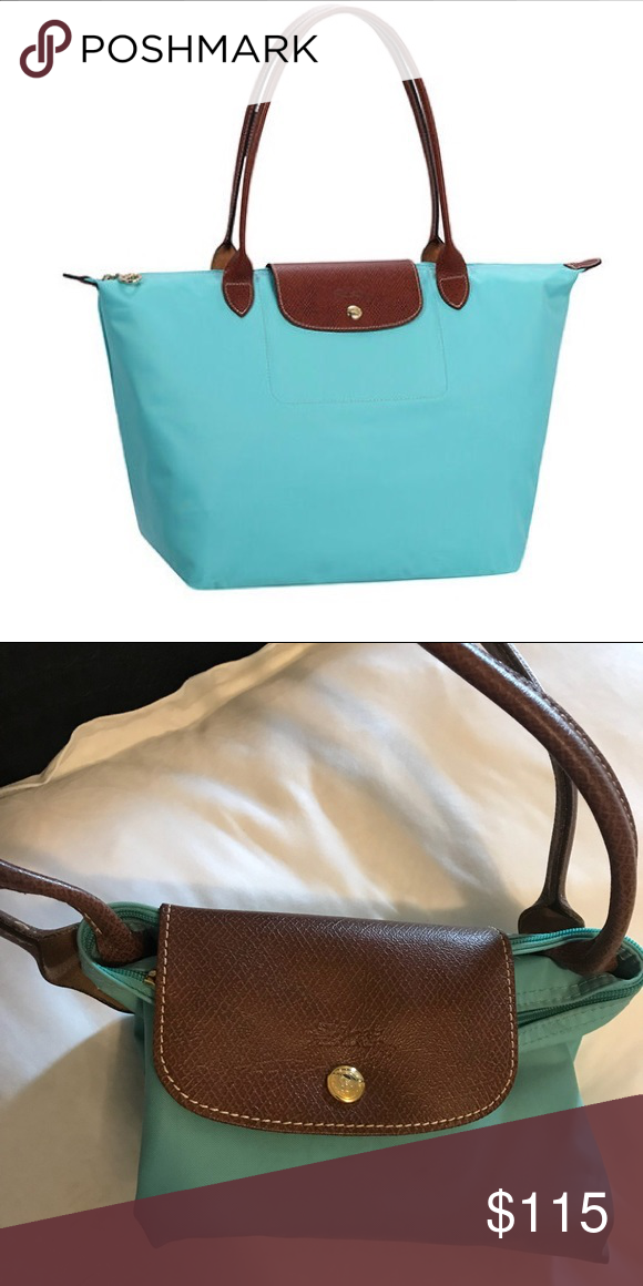 af0b6aad53 Longchamp Le Pliage Large Tote Lagoon Rare 💫 Longchamp Le Pliage Large Tote  Lagoon! Used but in great condition💫🌟 white interior and special edition  blue ...