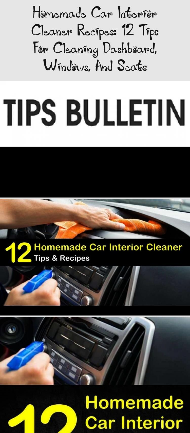 Car Interior Cleaner Recipes: 12 Tips For Cleaning Dashboard, Windows, and SeatsHomemade Car Interi