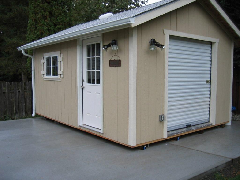 heritage style with roll up door and flower boxes storage garden shed tool shed playhouse craft room mother in law home guest room home offu2026