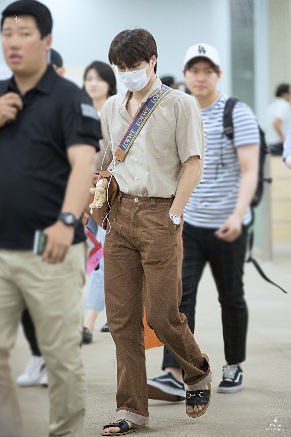 ic: Exo Kai appearing in Gimpo Airport on 02/07/18, Source: Unknown