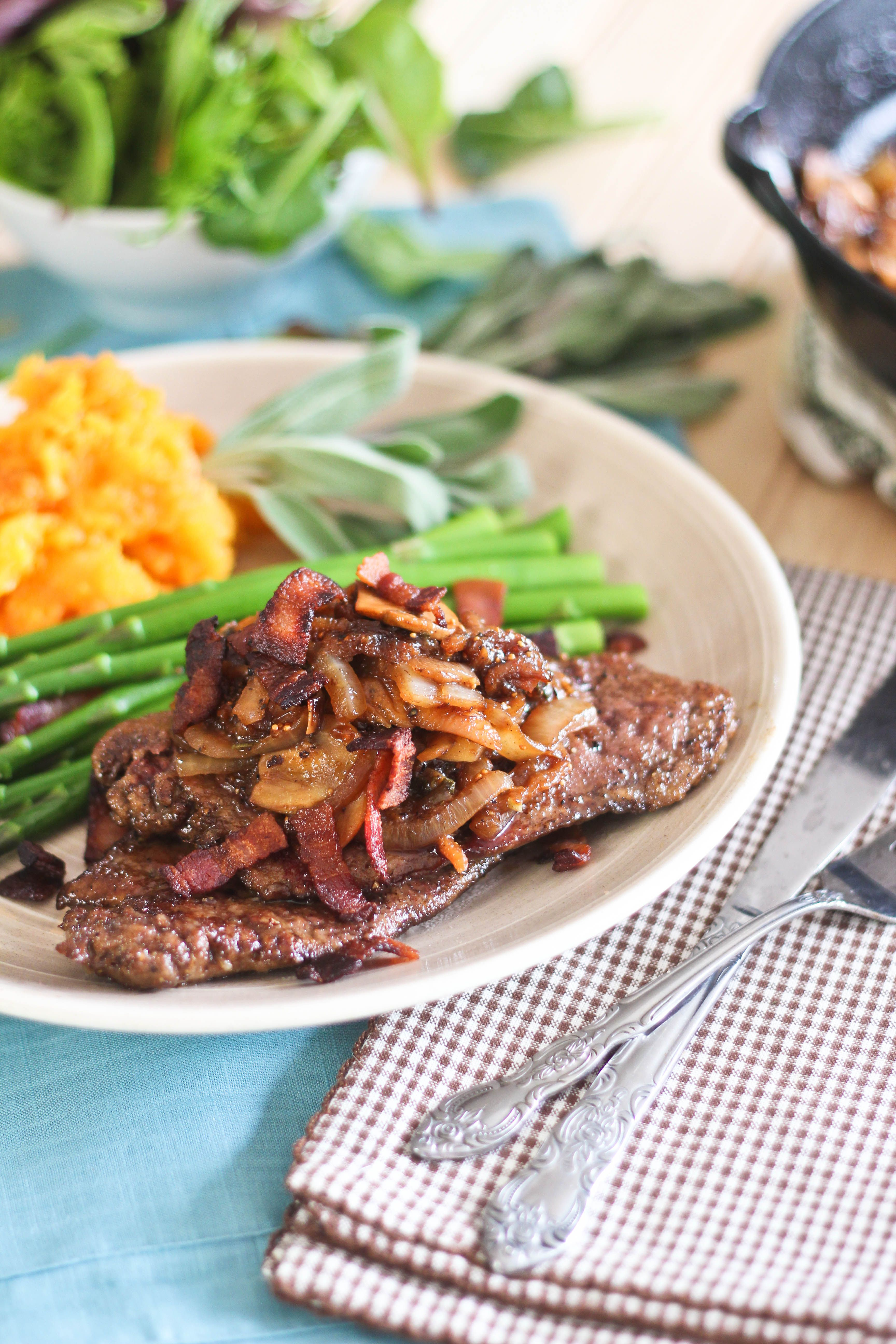 Beef Liver With Fig Bacon And Caramelized Onion Compote Or The Ultimate Beef Liver Recipe Recipe Liver Recipes Veal Recipes Recipes